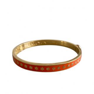Halcyon Days Enamel Star Print Bracelet