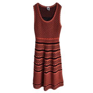 M Missoni Red Knit Sleeveless Dress