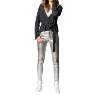 Zadig & Voltaire Lemmy Studded Wool-Blend Wrap Cardigan