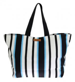 Dolce & Gabbana Striped Canvas Tote Bag