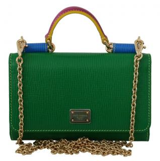 Dolce & Gabbana Saffiano Leather Sicily Von Wallet on Chain