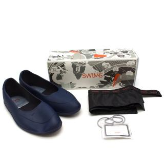Swims Navy Galosh Shoe Protectors