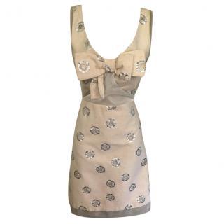 See By Chloe Sheer Panelled Silk Blend Dress