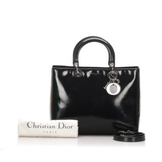 Dior Lady Dior Patent Leather Satchel