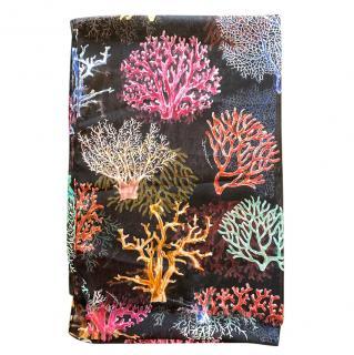 Dolce & Gabbana Coral Print Wrap Scarf