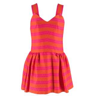 Delpozo Striped Jacquard Mini Dress
