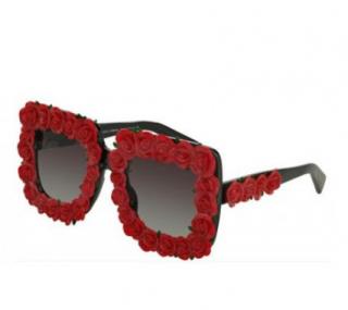Dolce & Gabbana Spanish Rose Square Sunglasses
