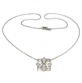 Bespoke French 2.6ct marquis and princess cut diamond pendant