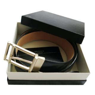 Mont Blanc limited edition black leather belt