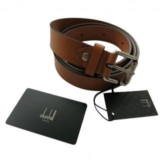 Dunhill camel brown leather belt