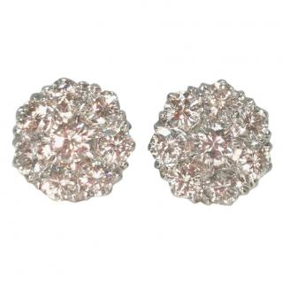 Bespoke 3.02 ct diamond cluster earrings