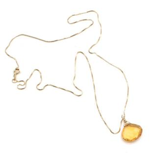 Bespoke Gold Necklace with Citrine Pendant