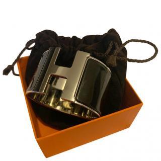 Hermes Extra Wide Enamel Clic H Bracelet