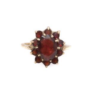 Bespoke 9ct Gold Garnet Vintage Ring