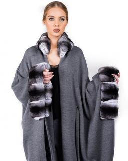 FurbySD Loro Piana cashmere and chinchilla cape/coat