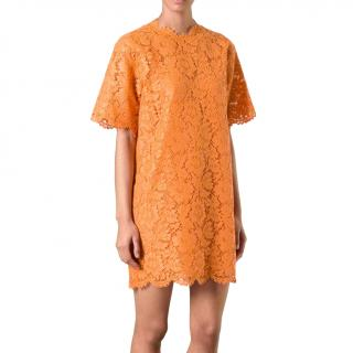 Valentino Orange Lace Shift Dress - As worn by Jennifer Lopez