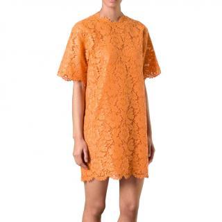 Valentino Orange Lace Shift Dress - As worn by Jennifer Lopez