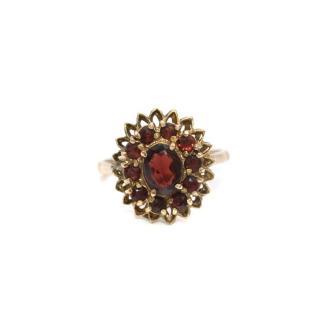 Bespoke Vintage Garnet Cluster Ring