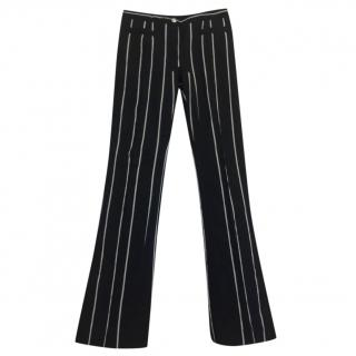 Celine Heide Slimane striped cotton trousers