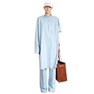 Balenciaga light blue resort collection trousers