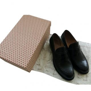 Silvano Lattanzi handmade black leather loafers