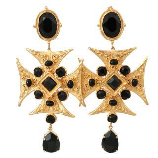 Dolce & Gabbana Sicily cross earrings