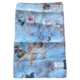 Dolce & Gabbana Cherubs and Angels print silk scarf/pareo