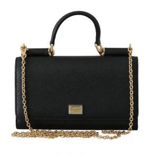 Dolce & Gabbana Black Sicily Von Bag