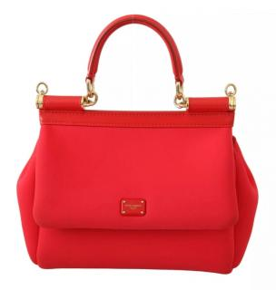 Dolce & Gabbana red Miss Sicily Neoprene bag