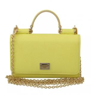 Dolce & Gabbana yellow Sicily Von cross body, shoulder top handle bag