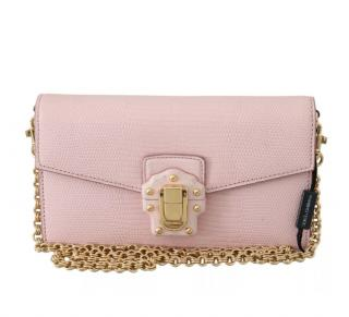 Dolce & Gabbana pink leather Lucia bag