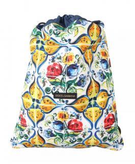 Dolce & Gabbana White Majolica Nap Sack Bag