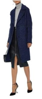 Elie Tahari indigo double breasted coat