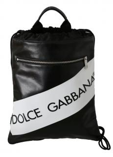 Dolce & Gabbana Zip Front Drawstring Backpack