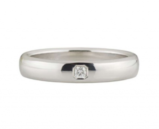 Tiffany & Co. Diamond Set Platinum Men's Wedding Band