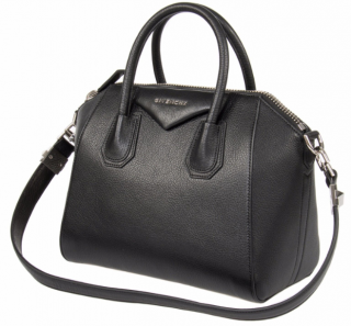 Givenchy Black Grained Leather Medium Antigona