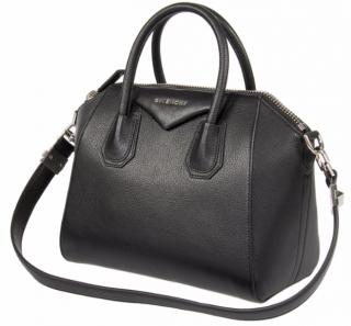 Givenchy Black Grained Leather Medium Antigona