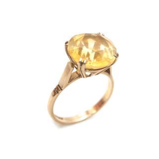 Bespoke Gold Citrine Cocktail Ring