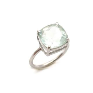 Bespoke White Gold Green Amethyst Ring