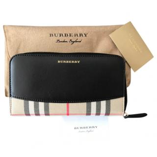 Burberry Leather Nova Check Panelled Wallet