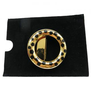 Carter gold plated panther print belt buckle