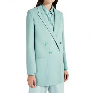 MaxMara double breasted virgin angora wool coat