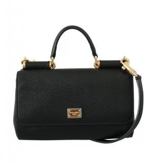 Dolce & Gabbana black Sicily shoulder/top handle bag