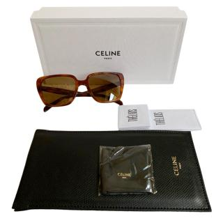 Celine light brown retro Havana sunglasses