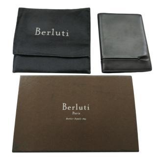 Berluti Grey Leather Passport Holder