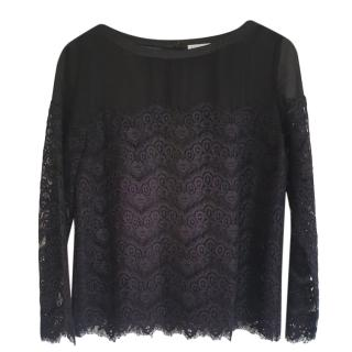 Claudie Pierlot black lace blouse