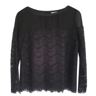 Claudie Pierlot black lace blouse
