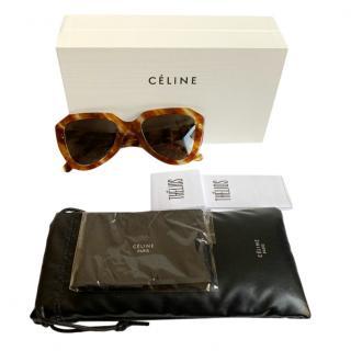 Celine Havana Tortoiseshell Geometric Sunglasses