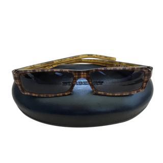 Burberry Rectangular Classic Check Sunglasses