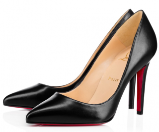 Christian Louboutin Black Kid Leather Pigalle100 Pumps